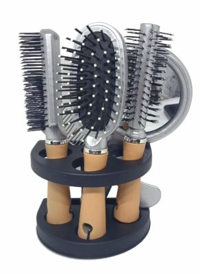 Fully Stylish And Professional Hair Brush Set With Mirror And Stand