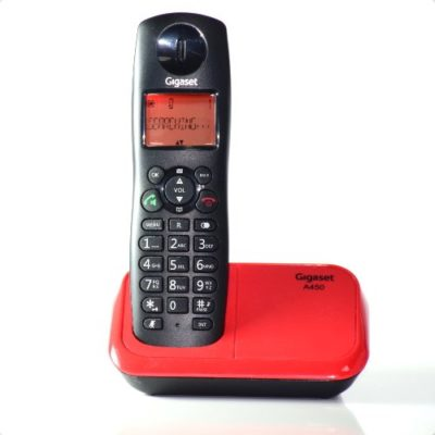 Gigaset A450 Black & Red Cordless Phone