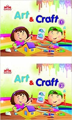 Gikso Combo of Art and Craft 1&2 for Kids Age 4-9