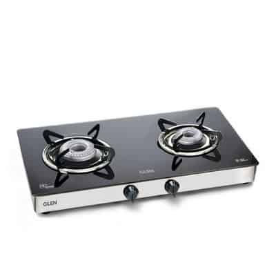 Glen Kitchen 2 Burner Glass Gas Stove