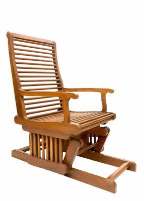 Gomati Woods Pure Teak Wood Rocking Chair Luxury Glider Chair