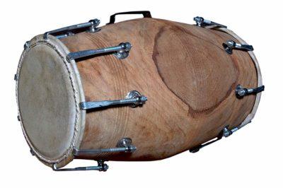 Handmade Folk Indian Sheesham Nut Bolt Tightened Dholak