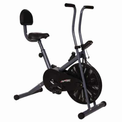 Healthex Exercise Bike with Black Support for weight loss and home use.