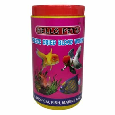 Hello Pet's Freeze Dried Blood Worms Fish Food