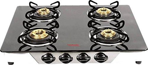 Hindware Armo Stainless Steel, Glass Manual Gas Stove  (4 Burners)