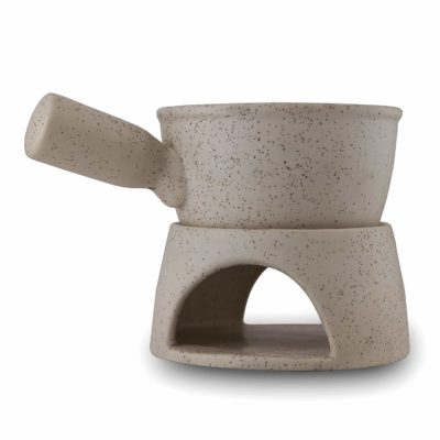 Homestake Ceramic Fondue Burner Marble Finish