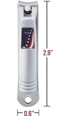 I & I USA Nail Clipper Stainless Steel Fingernail and Toenail Sharp Cutter