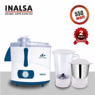 INALSA Juicer Mixer Grinder MIX N BLEND -550W