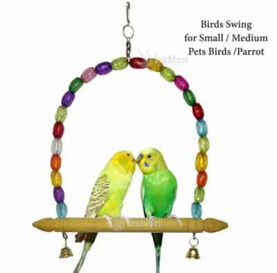IRABLESS Wooden Birds Swing