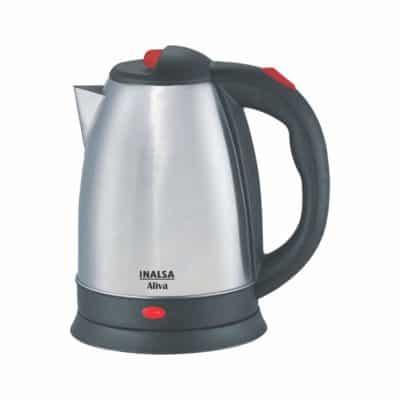 Inalsa Aliba 1500w Electric Kettle (Black-Silver)