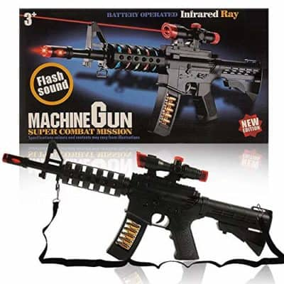 Indusbay Light and Sound Army Style Machine Gun with Vibration