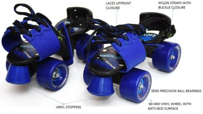 Jaspo Tenacity Senior Roller Skates (6 to 14 Years)