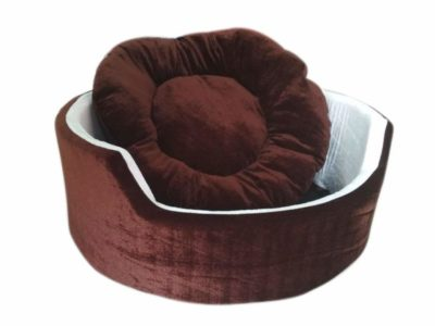 Jerry's Pet Products Fabric Soft Fleece Dual Round Dog/Cat Bed