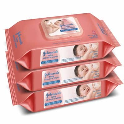 Johnson's Baby Wipes, Pack of 2 (160 wet wipes)