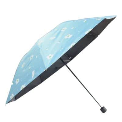 Kekemi 3 Fold Flower Print Umbrella