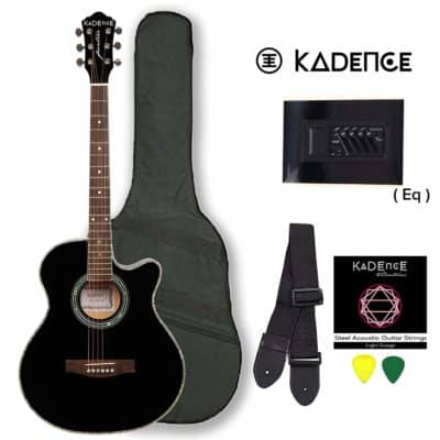 Kadence Black Semi-Acoustic Guitar
