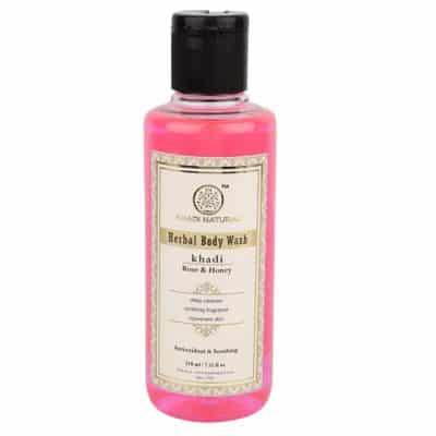 Khadi Natural Herbal Rose and Honey Body Wash