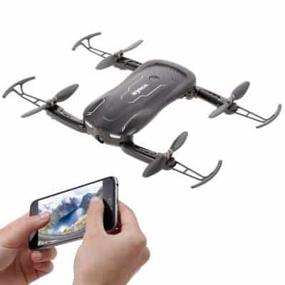 Syma Z1 R/C Foldable Selfie Drone FPV WiFi Camera Altitude Hold Mode App Control Quadcopter, Black