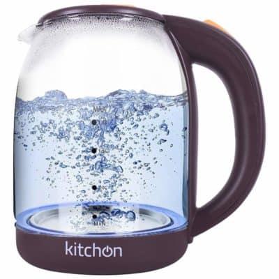 Kitchon KIKGL 1.8L 1500 watts Automatic Electric Glass Kettle