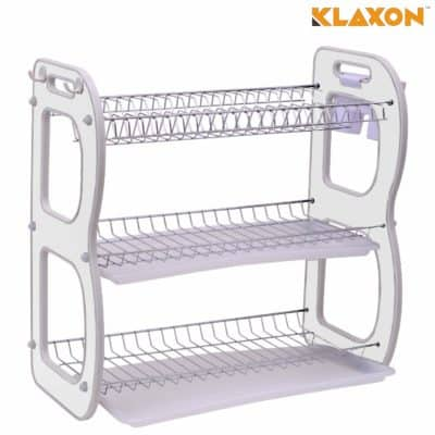 Klaxon Steel Chrome Plated Durable Dish Drainer