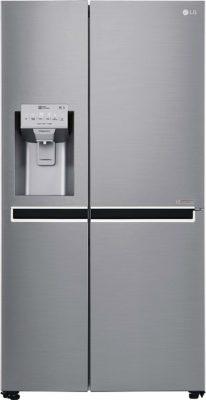 LG 668 L Frost Free Side-by-Side Refrigerator(GC-L247CLAV.APZQEBN, Shiny Steel, Inverter Compressor)