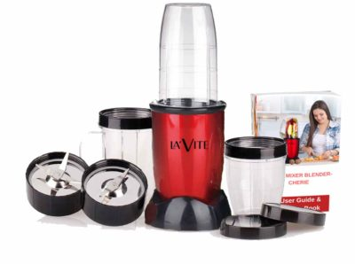 La Vite Cherie -Compact Nutri Bullet Powerful Mixer Grinder Blender – 3 Jars & 2 Blades (Free Recipe E-Book)