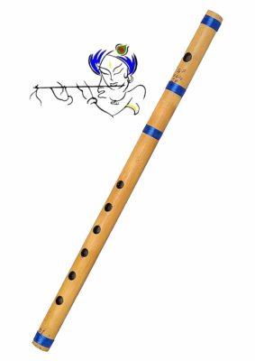 Large Indian Bamboo Natural Flutes/Bansuri