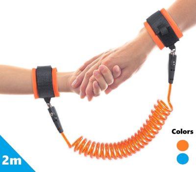 LifeKrafts Kid's Anti Lost Safety Wrist Link (Orange, 2 m)