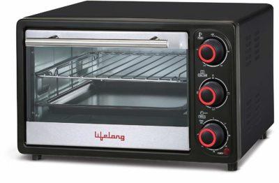 Lifelong 16L 1200-Watt Oven Toaster Griller, Black