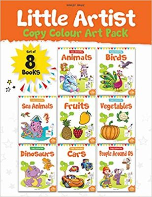 Little Artist Coloring Pack Set of 8