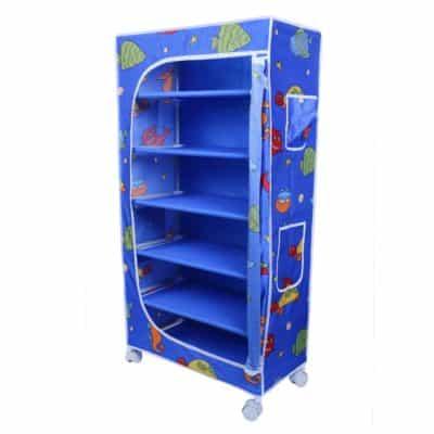 Little One's | 6 Shelves Foldable Wardrobe