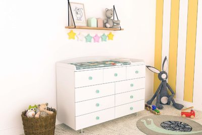 LittleBird Chest of 9 Drawers with Changing Table