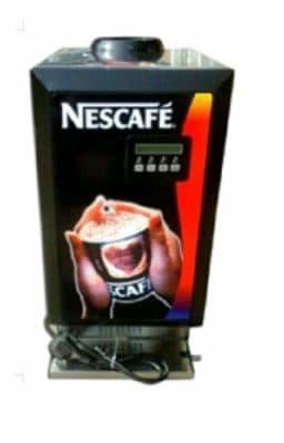 MAZORIA Metal Tea Coffee Soup Vending Machine with 3 Flavour (Black)