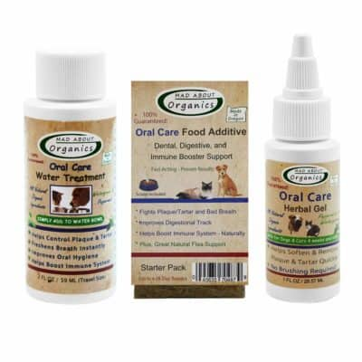 Mad About Organics All Natural Dog & Cat Dental Care Plaque Remover Starter Kit