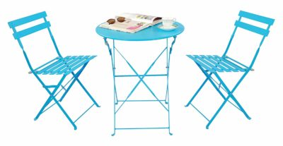Magna Homewares Bistro Metal Folding Table & Chairs Set