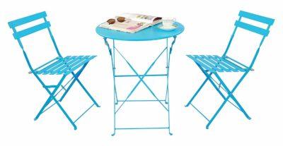 Magna Homewares Bistro Metal Folding Table & Chairs Set