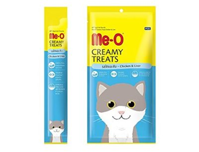 Me-O Creamy Treats with Chicken and Liver for Cats and Kittens