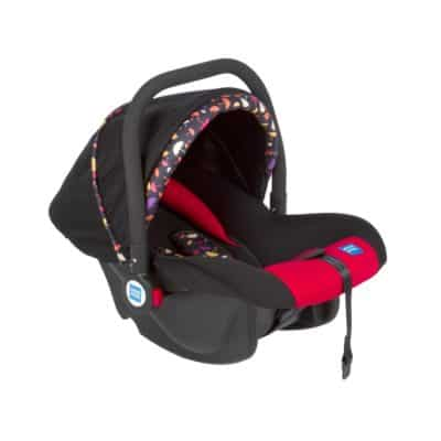 Mee Mee Baby Car Seat Cum Carry Cot with Thick Cushioned Seat and Head Support (Red)