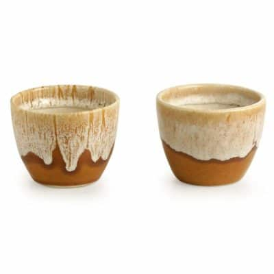 ExclusiveLane Melting Glaciers Studio Pottery Planters