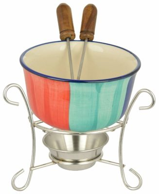 Meraki By Sonal Ceramic Rainbow Fondue Set