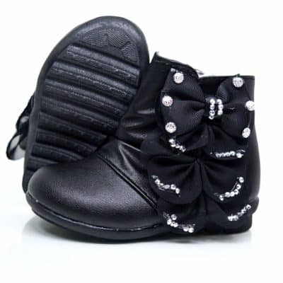 Mishlee Baby Girl Boots-Black Color, Pink Color, and White Color