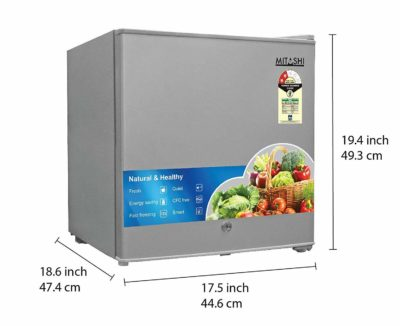Mitashi 46 L 2 Star Direct Cool Single Door Refrigerator(msd050rf100, Silver)