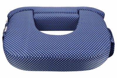 MomToBe Twin Feeding Pillow/Nursing Pillow- HD Foam 100% Cotton Fabric-Blue Polka Print