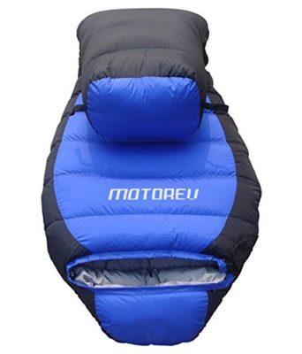 Motorev Duck Down Feather Ultra Light Sleeping Bag(Black, Blue)