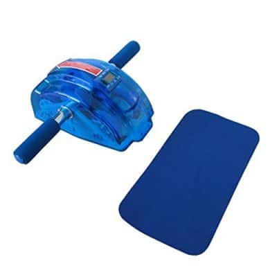 Mse Real Plastic Body Maker 4-wheel Abs Roller With Knee Mat And Floor Wedge Exercise Equipment