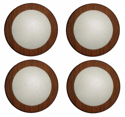 Mufasa 6 Watt Led Surface Panel, Slim Round Style Flush Mount Ceiling Lamp (Warm White) (Wooden Finish) (Pack of 4)
