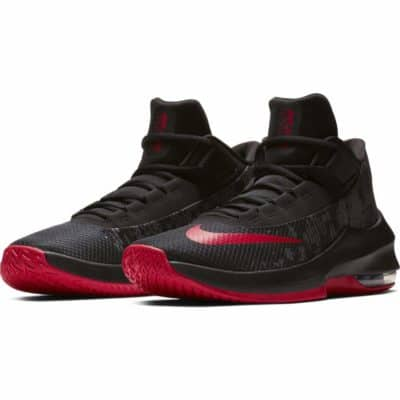 Nike Men's Air Max Infuriate 2 Mid Black/University Red Basketball Shoes