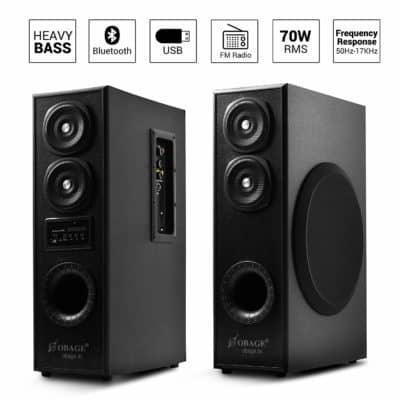 OBAGE Dual Tower Multimedia Speaker System