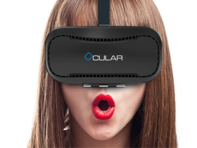 OCULAR Razor Virtual Reality Glasses with 42mm Lenses for 4?-6? Android Smartphones
