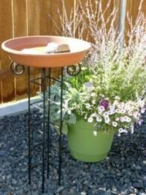 Om Craft Villa Earthen Pot Terracotta Bird Bath, Earth Brown